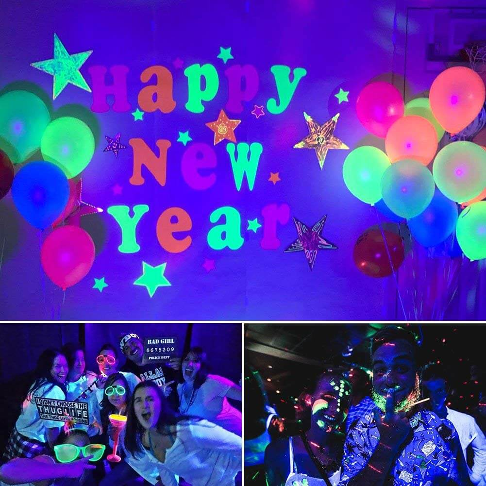 Black Lights for Parties UV Lights With Remote & Sound